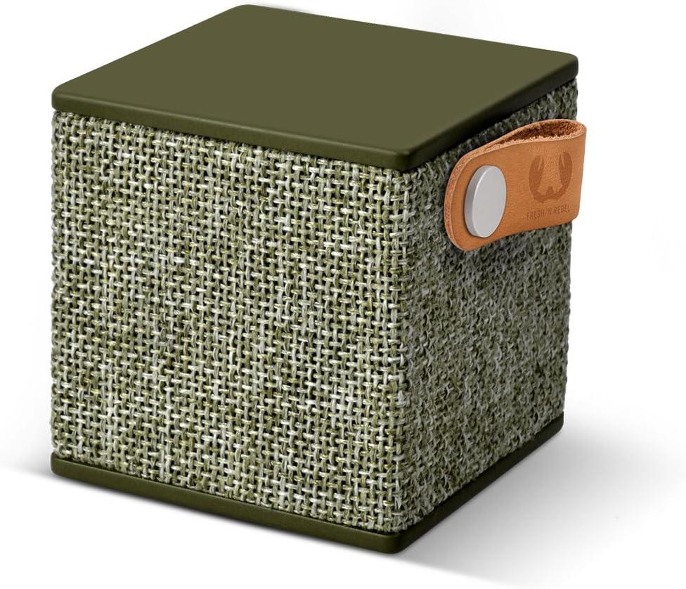 Fresh'N Rebel Rockbox Cube - Altavoz portátil con Bluetooth, color verde