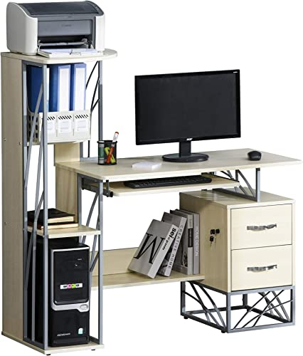 HOMCOM Modern Computer Writing Desk Workstation