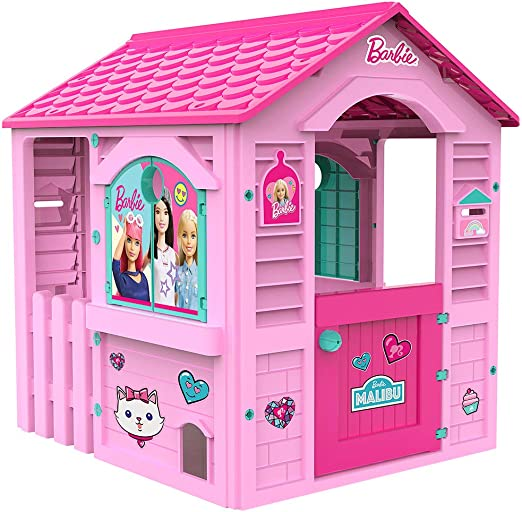 Chicos Casita infantil de exterior Barbie, color rosa con tejado fucsia (La Fábrica de Juguetes 89609): Amazon.es: Juguetes y juegos