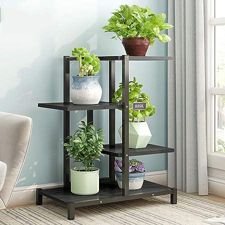 Flower rack-LU Soporte de Flores Tipo de Piso Exhibición de Plantas Escalera de Estante Soporte de jardín Estante de Almacenamiento en el hogar 60 × 23 × 75 cm (Color : D): Amazon.es: Hogar
