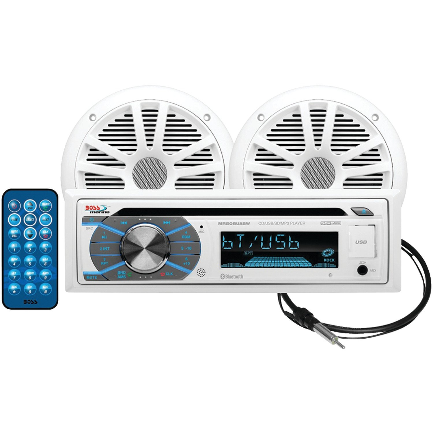 Boss Audio Systems MCK508WB6 CD/USB/SD44; MP344; WMA44; Fm/am Player/bluetooth W/6.5'' Speakers