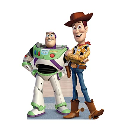 6056bd26458 Amazon.com  Advanced Graphics Buzz   Woody Life Size Cardboard Cutout  Standup - Disney Pixar s Toy Story  Toys   Games