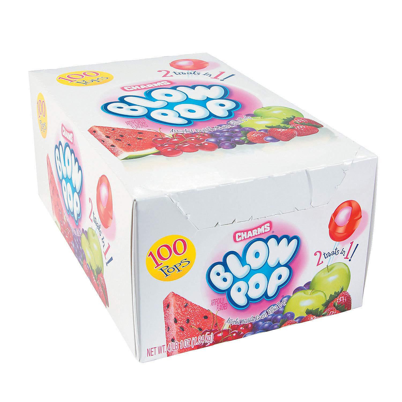 Fun Express - Blow Pops 100 Pc Box - Edibles - Sucker & Pop - Suckers & Lollipops - 100 Pieces by Fun Express