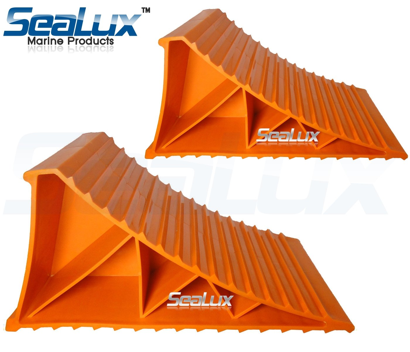 SeaLux Marine Wheel Chocks in pair for Tire up to 20'' , use on Trailers, Vans, Cars, Campers