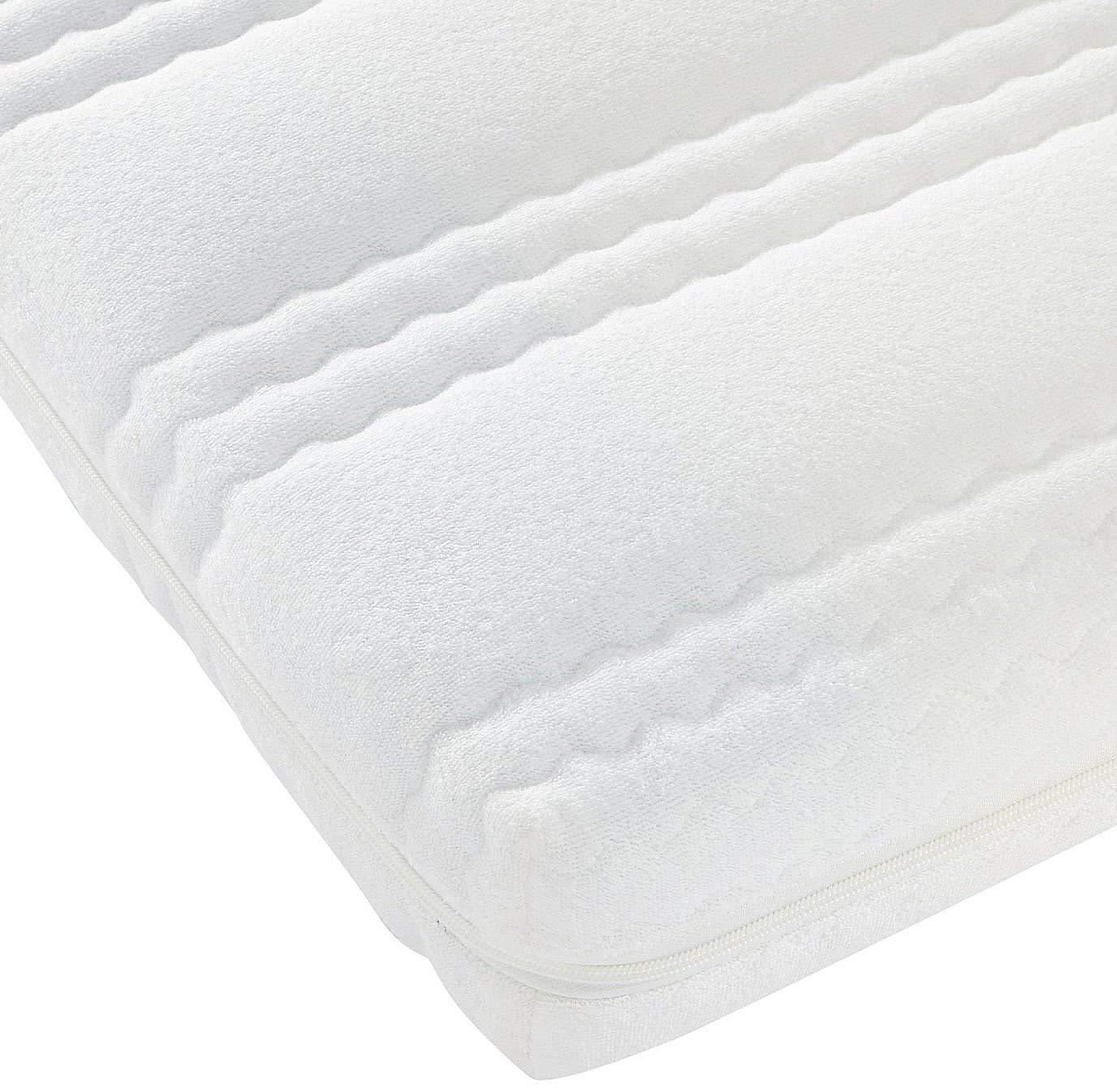 Best For Kids Kinderbett-Matratze Kesja 60x120x10 cm bis 90x200x14 cm, Qualität nach Ökotex 100 - Standard und TÜV Gesteppte und Weiche Kindermatratze aus Frottee mit Trittkante (90x200x10 cm)