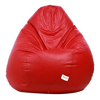Sattva Classic Bean Bag Cover (Without Beans) XL Size - Red
