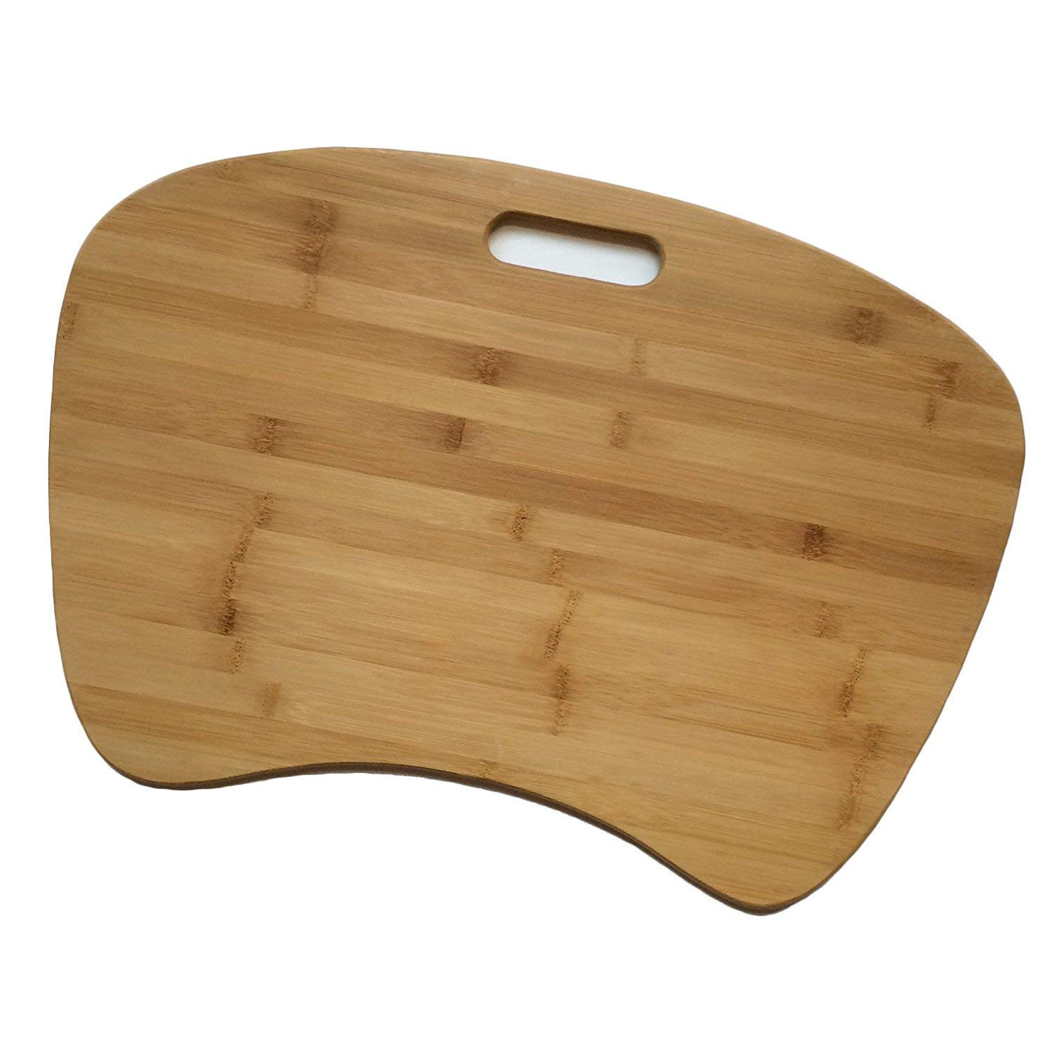 IMPROVED Triple-Layer Bamboo Lap Desk for Laptop | Unbreakable Construction | Jumbo Size with Detachable Cushion | Eco Friendly