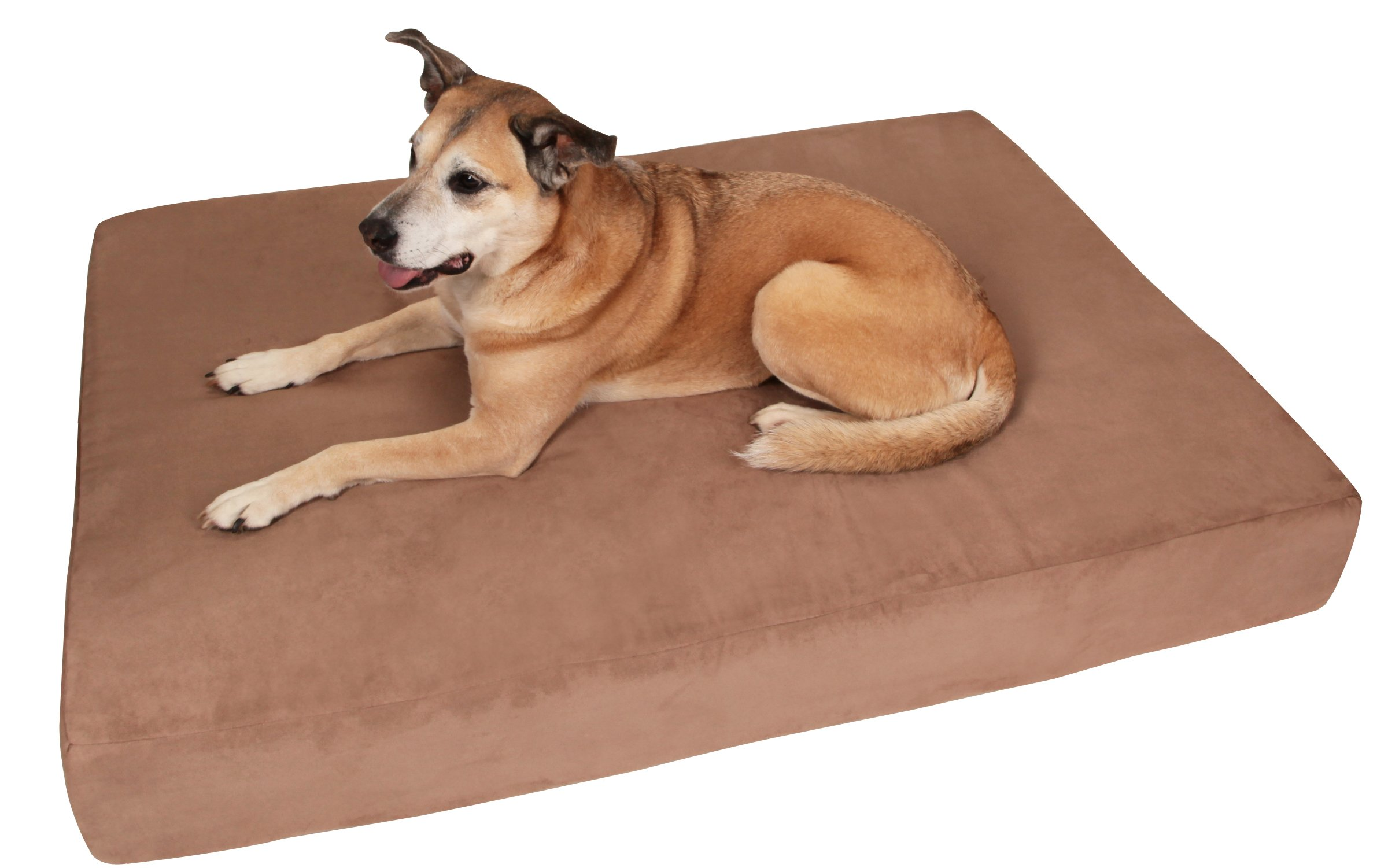 Big Barker 7'' Pillow Top Orthopedic Dog Bed - Large Size - 48 X 30 X 7 - Khaki - For Large and Extra Large Breed Dogs (Sleek Edition)