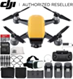 DJI Spark Portable Mini Drone Quadcopter Fly More Combo Virtual Reality Experience VR Ultimate Bundle (Sunrise Yellow)