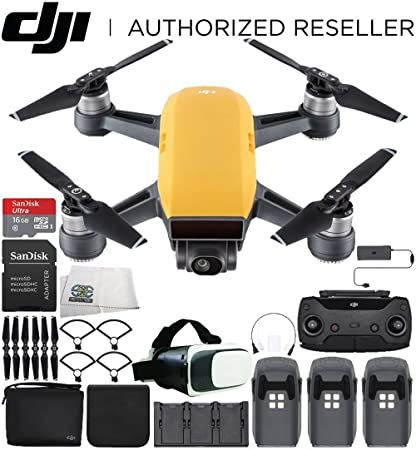 dji Spark Mini Drone Quadcopter Fly More Combo Virtual Reality ...