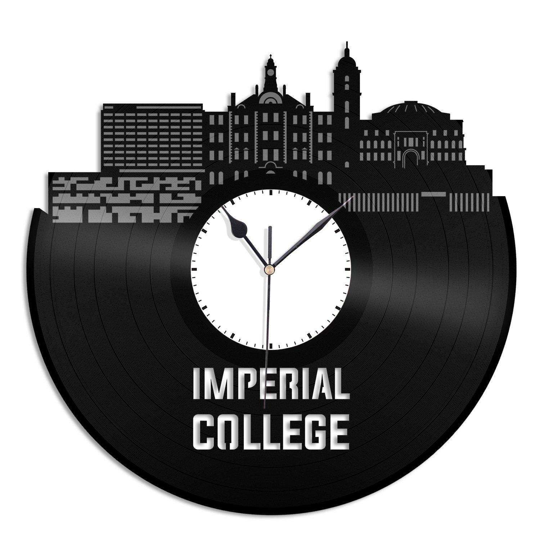 VinylShopUS Imperial College Vinyl Wall Clock Skyline Record Home Room | Home Decoration