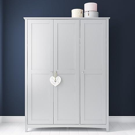 af8836f4ad Finch 3 Door Wardrobe in Light Grey: Amazon.co.uk: Kitchen & Home