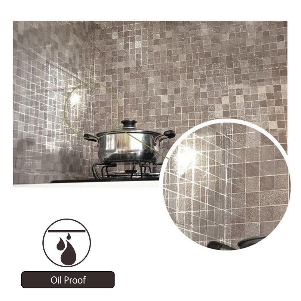 Amazon.de: Demiawaking Mosaik aus Aluminium Folie Selbstklebend Anti ...