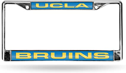 Rico Industries NCAA Unisex-Adult NCAA Laser Cut Inlaid Standard Chrome License Plate Frame