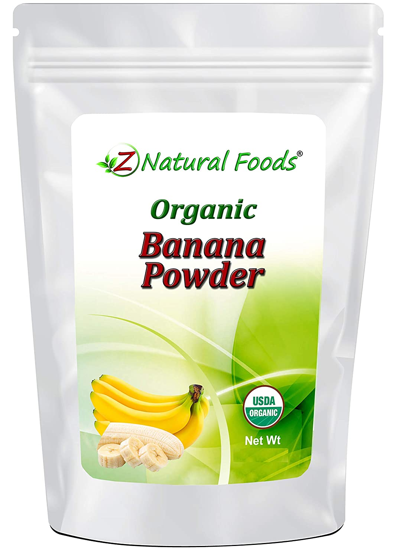 Organic Banana Powder - Fruit Supplement For Smoothies, Desserts, Drinks & Baking - Dried Superfood For Long Term Food Storage - Raw, Non GMO, Gluten Free, Vegan, & Kosher - 6 oz