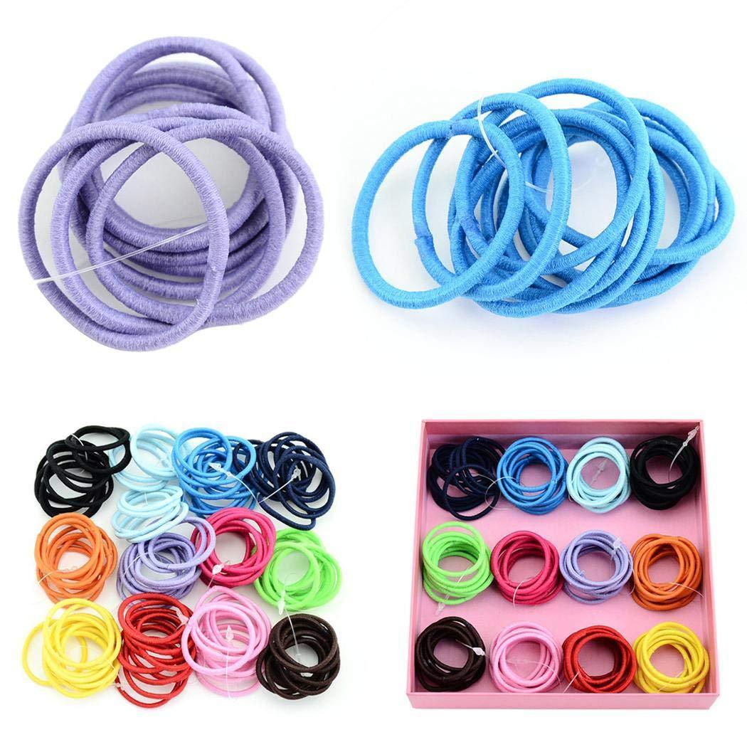 yagot 100pcs Kinder Elastisches Haar Ring mehrfarbe niedliche Headwear Haar Seil