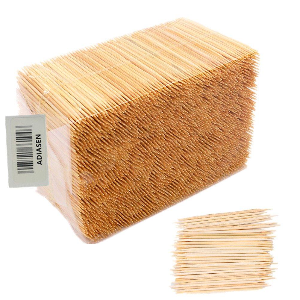 Adiasen 1000/pcs Bambou Naturel f/ête cure-dents H/ôtel M/énage