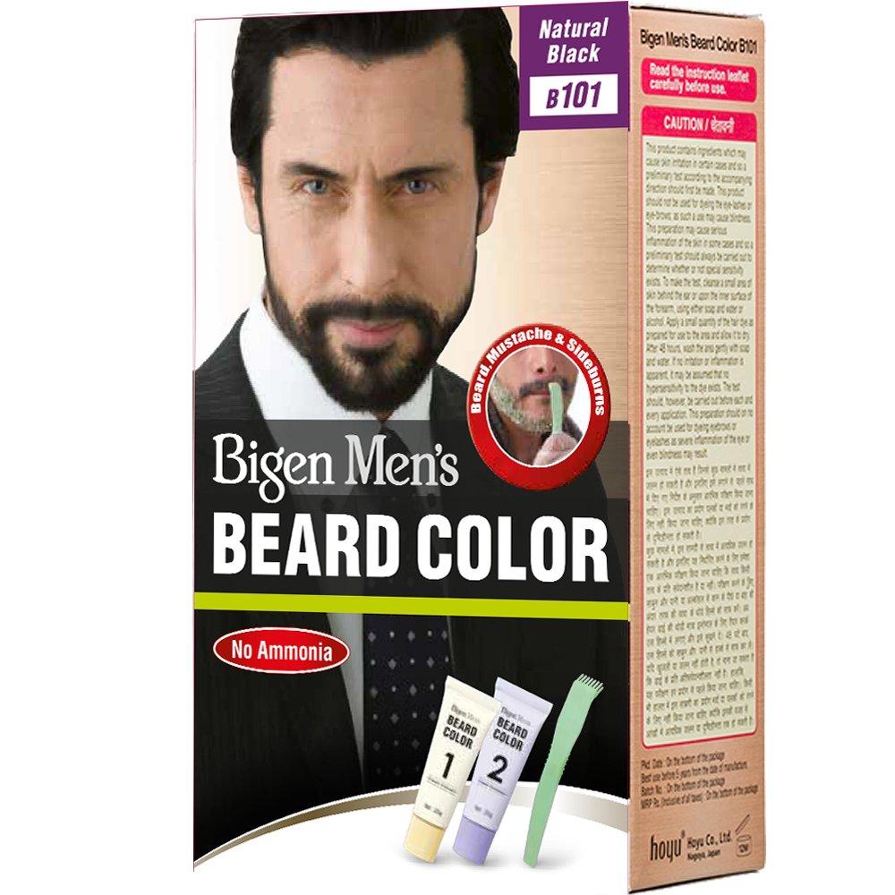 Buy Bigen Men\'s Beard Color, Natural Black B101, 40g Online at Low ...