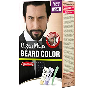 Bigen Men\'s Beard Color, Natural Black B101 (20g + 20g): Amazon.in ...