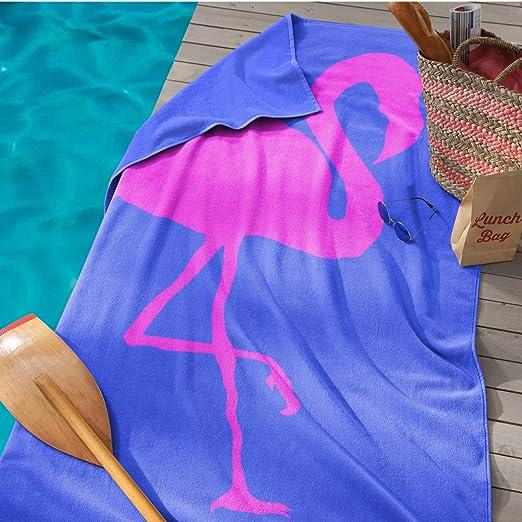 Seahorse Flamingo Beach Handtuch Baumwolle kobalt 180/x 100/x 0,03/cm