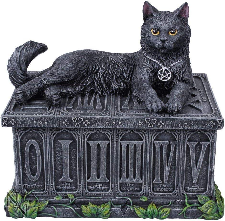 Ornament Fortunes Watcher Tarot Box Black 17cm