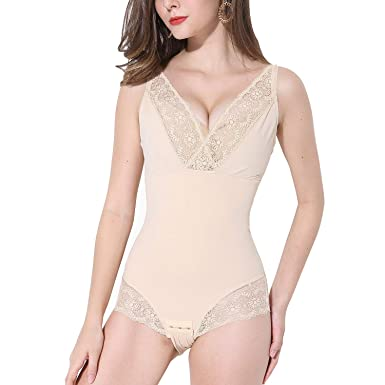 58293d8f87 PAUKEE Body Shaper Full Bodysuit Shapewear Firm Tummy Control