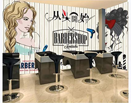 3d Photo Wallpaper Nordic Hairdresser Beauty Salon Barber