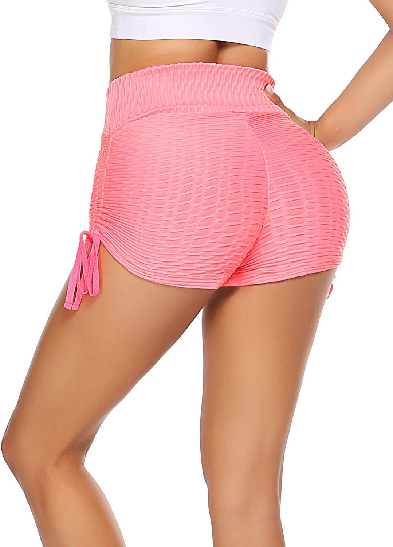 coorun Womens Workout Shorts High Waist Tummy Control Yoga Shorts Hot Pants Butt Lifting Athletic Shorts