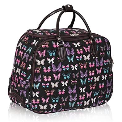 Ladies Travel Holdall Bags Hand Luggage Womens Butterfly Weekend ...