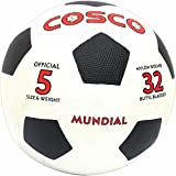 Cosco Mundial Foot Ball, Size 5  (White/Black)