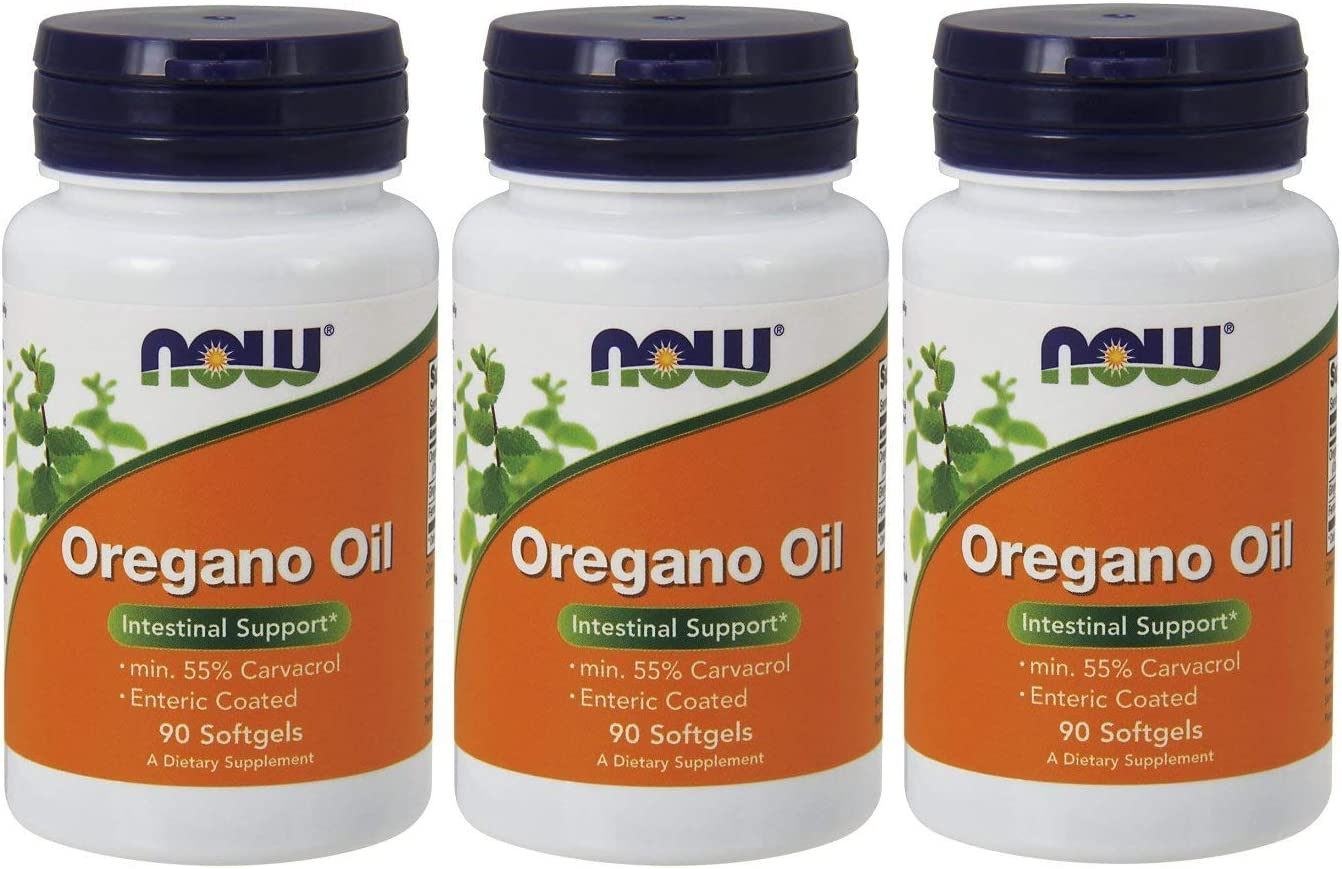 NOW Foods Oregano Oil Enteric, 90 Softgels 270 Softgels