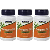 NOW Foods Oregano Oil Enteric, 90 Softgels (270 Softgels)