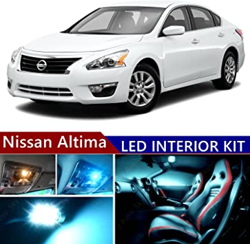 License Plate Lights For 2007-2015 Nissan Altima 15 x White LED Interior Bulbs