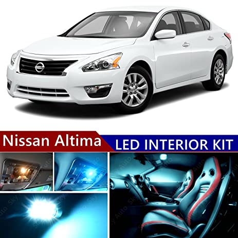 Nissan Altima 2007 2015 LED Premium ICE Blue Light Interior Package Kit (  14 Pcs