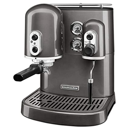 KitchenAid Pro Line Series Espresso Maker with Dual Independent Boilers,  Medallion Silver