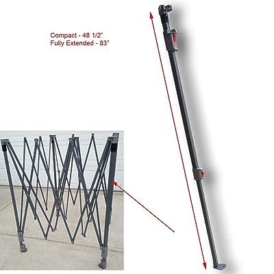 Coleman 10 x 10 Canopy Gazebo Entire Square Leg W/Slider & Cap Replacement : Garden & Outdoor