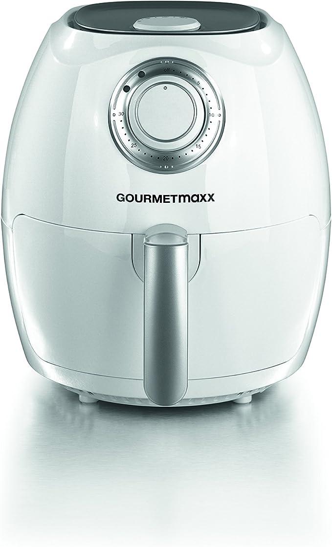 Freidora sin aceite GOURMETmaxx 2,2L 1350W negra / blanca (sin aceite, para freír sin grasa) Ohne Brotbackkorb Weiß: Amazon.es: Hogar