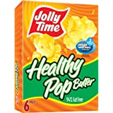 Jolly Time Healthy Pop Butter 94% Fat Free Weight Watchers Microwave Popcorn, 6-Count Boxes (Pack of 6)