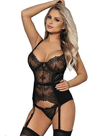 Lovely Lies Sexy Corset Lingerie Set Women Pushup Underwire Bra Lenceria para Mujer