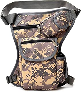 FimKaul Men Women Canvas Tactical Leg Bag Pouch Outdoor Sport Riding Leg Pack Messenger Bag Chest Bag (Black)