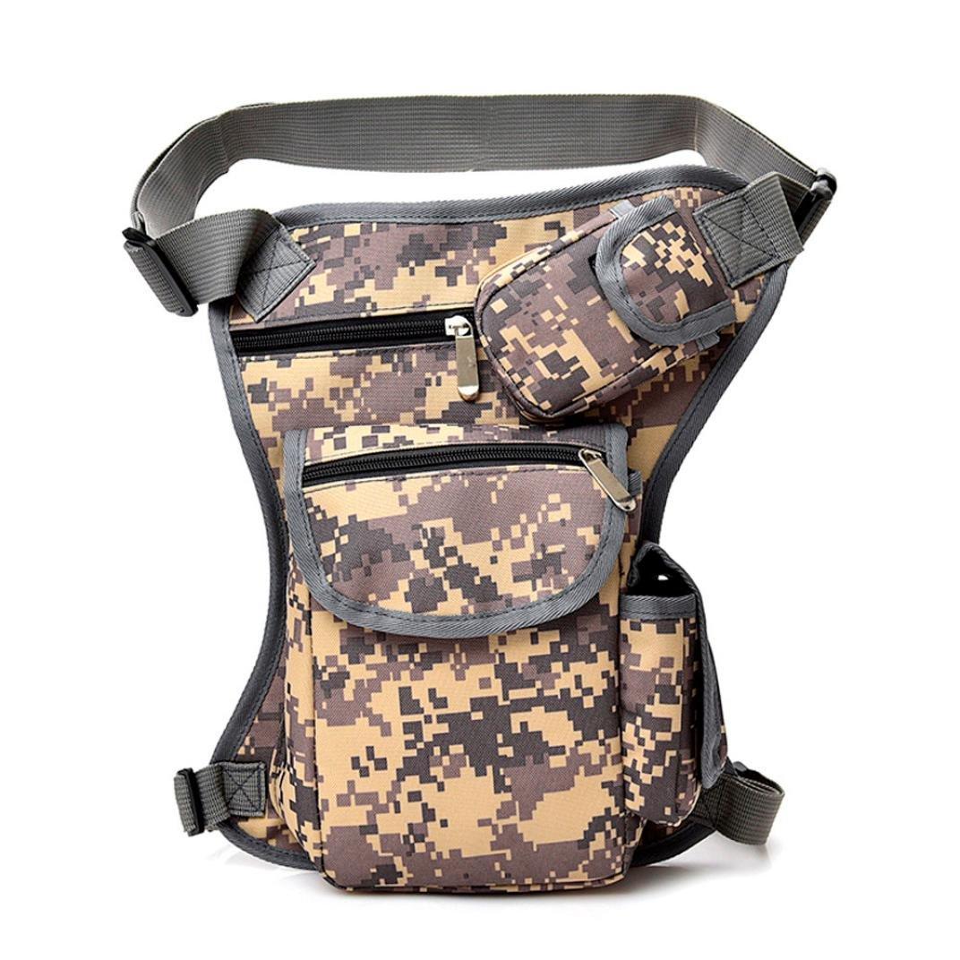 FimKaul Men Women Canvas Tactical Leg Bag Pouch Outdoor Sport Riding Leg Pack Messenger Bag Chest Bag (Black)