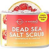 O Naturals Exfoliating Dead Sea Salt Grapefruit Essential Oil Face Body & Foot Scrub. w/Vanilla &. Hydrating Exfoliate…