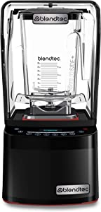 Blendtec Professional 800 Blender with WildSide+ Jar (90 oz), Sealed Sound Enclosure, Industries Strongest and Quietest Professional-Grade Power, 11-Speed Touch Slider, Self-Cleaning, Black