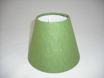 3 Pantalla para lámpara de mesa hecha a mano pequeña - Verde ...