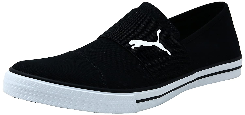 1588eb9178a Puma Unisex Alpha Slip On CV Black White Sneakers - 7 UK India (40.5  EU)(36622002)  Amazon.co.uk  Shoes   Bags