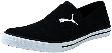 Puma Unisex Alpha Slip On CV Black White Sneakers 8 UK