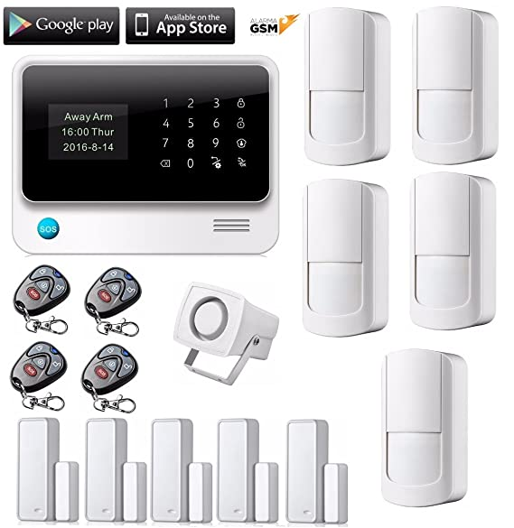 Kit 2 alarma GS90B inalámbrica GSM Y WiFi para hogar casa o negocio App IOS Android sin cuotas mensuales: Amazon.es: Bricolaje y herramientas
