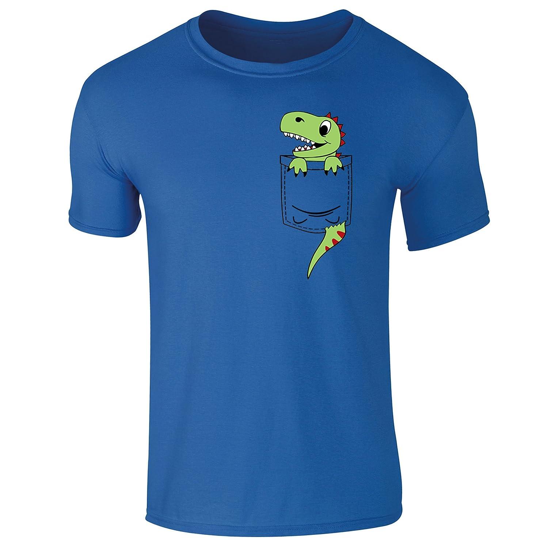 b6fe222ae40e Flip Mens Pocket Dinosaur Dino Cute Character Print T-Shirt  Amazon.co.uk   Clothing
