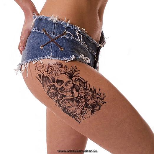 Hombres Tattoo Negro brazo Brazo tatuaje pegatinas rosas ...
