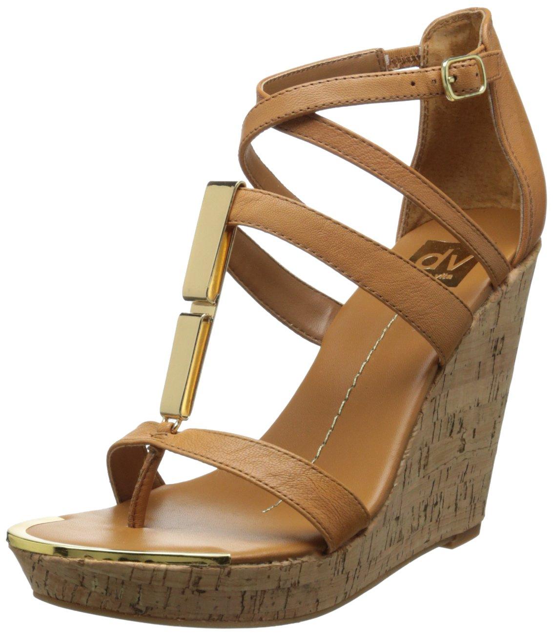 DV by Dolce Vita Women's Tabby Wedge Sandal B00G9AO68W 10 B(M) US|Cognac Stella